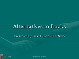 Alternatives to Locks