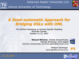 Towards a Semantic Infrastructure supporting Model …