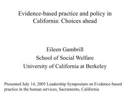 Evidence-based practice: Challenges and evolving remedies