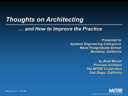Mercer - Thoughts on Architecting