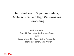 Intro to High Performance Computing