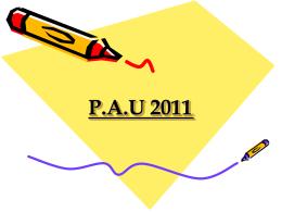 P.A.U 2010