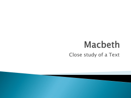 Macbeth - Ms Aspinall