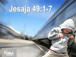 Jesaja 49:1-7 - Gemeentedienste Netwerk
