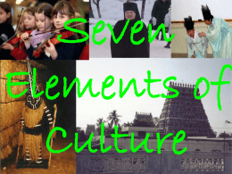 The Seven Elements of Culture