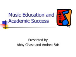 Music Education and Academic Success