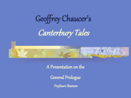 Geoffrey Chaucer's