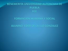 BENEMERITA UNIVERSIDAD AUTONOMA DE PUEBLA FCE …
