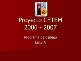 Proyecto CETEM 2006