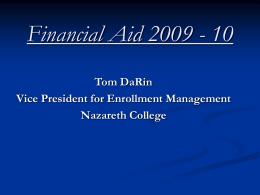 Financial Aid 2009-2010 - Greece PTA Council
