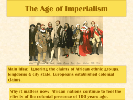 The Age of Imperialism - Murrieta Valley Unified School