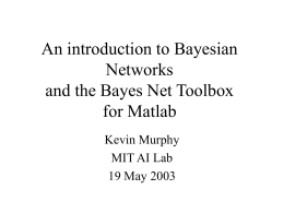 The Bayes Net Toolbox for Matlab