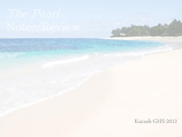 The Pearl Notes/Review