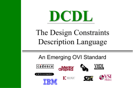 Design Constraints Description Language