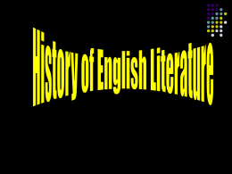 Literary and Historical Background of English literature