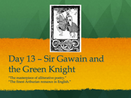 Day 7 – Sir Gawain and the Green Knight
