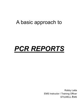 Writing a PCR