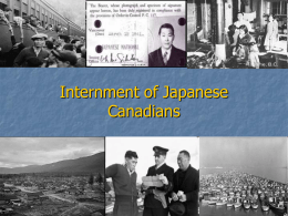 Internment of Japanese Canadians