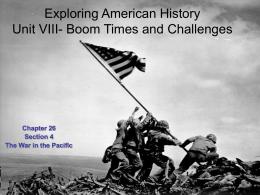10th American History Unit IV