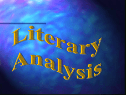LITERARY ANALYSIS