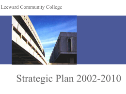 Strategic Plan 2002-2010
