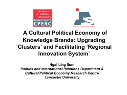 A cultural political economy of a Global City Region: the