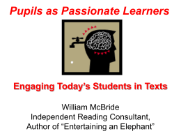 Bill McBride Educational Consultant Author of Entertaining