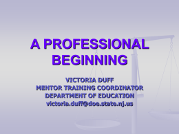 A PROFESSIONAL BEGINNING