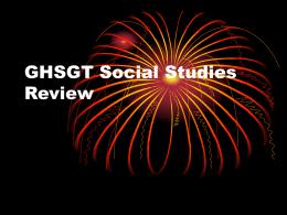 GHSGT Social Studies Review