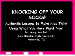 RAPID FIRE IDEAS! - Sam Houston State University