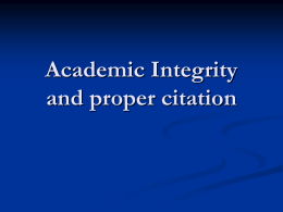 Academic Integrity - Courses | Course Web Pages