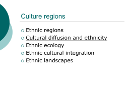 Ethnic Geography - The University of Texas at Austin