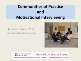 Integrating Motivational Interviewing Across Systems