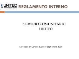 Reglamento Interno de Servicio Comunitario UNITEC