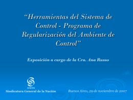 El Sistema de Control Interno en la Ley 24.156