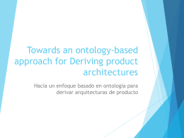Towards an ontology-based approach for Deriving …