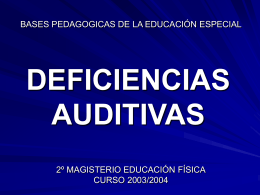 DEFICIENCIAS AUDITIVAS
