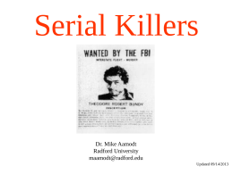 Serial Killers - Mike Aamodt (Radford University)