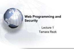 Programmation du Web Diffus