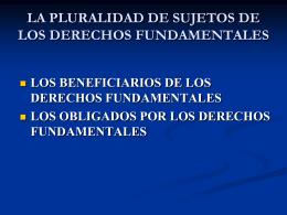 LOS SUJETOS DE LOS DERECHOS FUNDAMENTALES