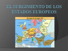 El Surgimiento de los Estados Europeos