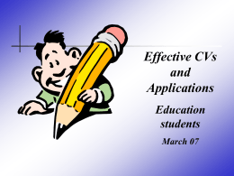 Effective Applications - University of Limerick