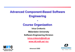 Component-Based Software Engineering & Component …