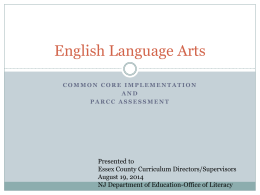English Language Arts - Orange Board of Education