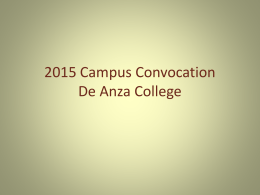 2015 Campus Convocation De Anza College