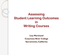 Assessing Student Learning Outcomes in Writing Courses