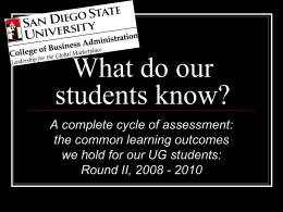 What do our students know?