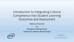 Cultural Competence Webinar