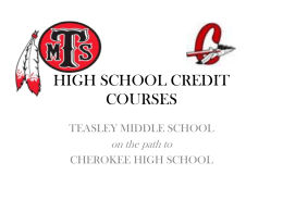 HIGH SCHOOL CREDIT COURSES