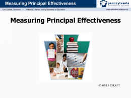 Principal Effectiveness - Delaware County Intermediate Unit